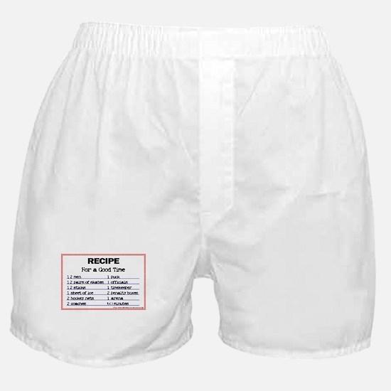 Hockey recipe. Boxer Shorts
