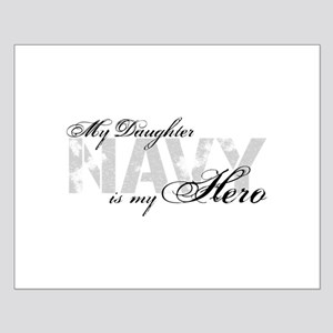 Daughter is my Hero NAVY Small Poster