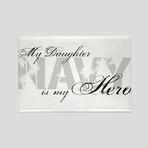 Daughter is my Hero NAVY Rectangle Magnet