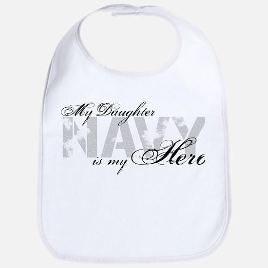 Daughter is my Hero NAVY Bib