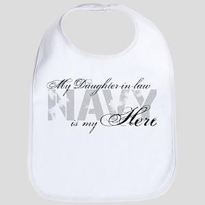 Daughter-in-law is my Hero NAVY Bib