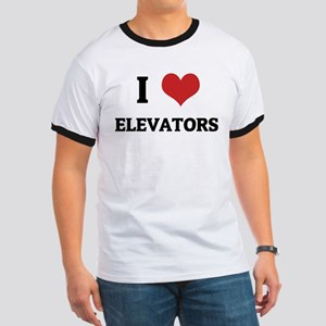 I Love Elevators Ringer T
