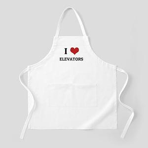 I Love Elevators BBQ Apron