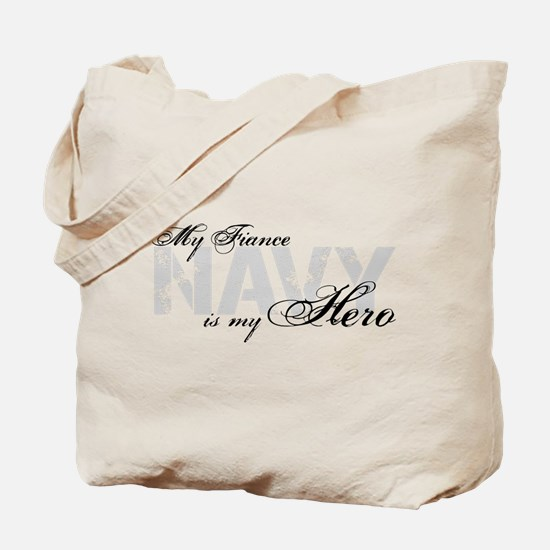 Fiance is my Hero NAVY Tote Bag