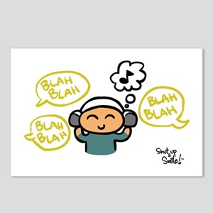 blah blah blah Postcards (Package of 8)