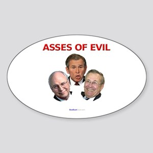 """Asses of Evil"" Oval Sticker"