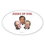 """Asses of Evil"" Oval Sticker (50)"