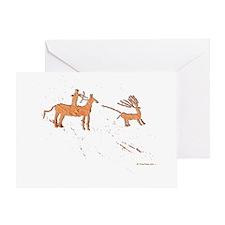 Petroglyph Hunter Greeting Card