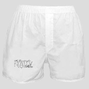 Granddaughter is my Hero NAVY Boxer Shorts