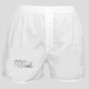 Grandpa is my Hero NAVY Boxer Shorts