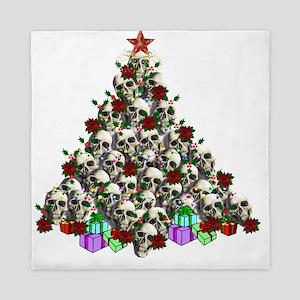 Merry Christmas Skulls Queen Duvet