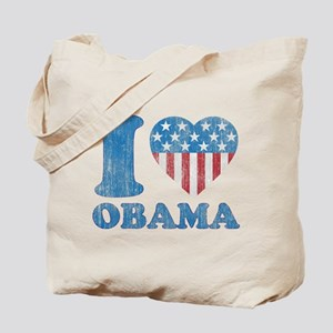 Vintage i Love Obama Tote Bag