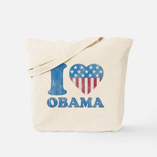 Vintage i Love Obama Tote Bag
