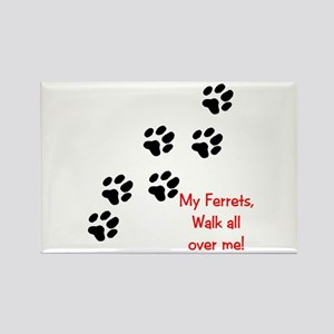 Walk all over me 2 Rectangle Magnet