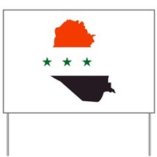 Iraq Map Flag | Yard Sign