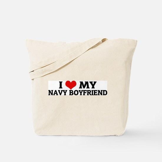 I Love My Navy Boyfriend Tote Bag