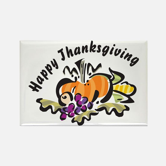 Happy Thanksgiving Rectangle Magnet (100 pack)