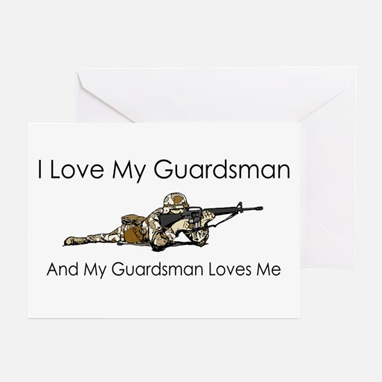 I love my guardsman Greeting Cards (Pk of 10)