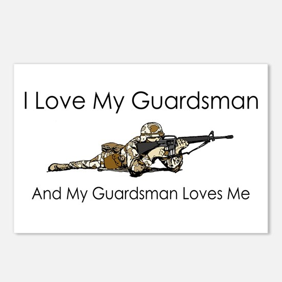 I love my guardsman Postcards (Package of 8)