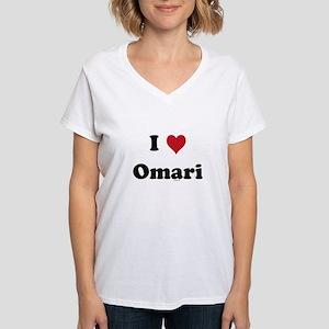 I love Omari Women's V-Neck T-Shirt