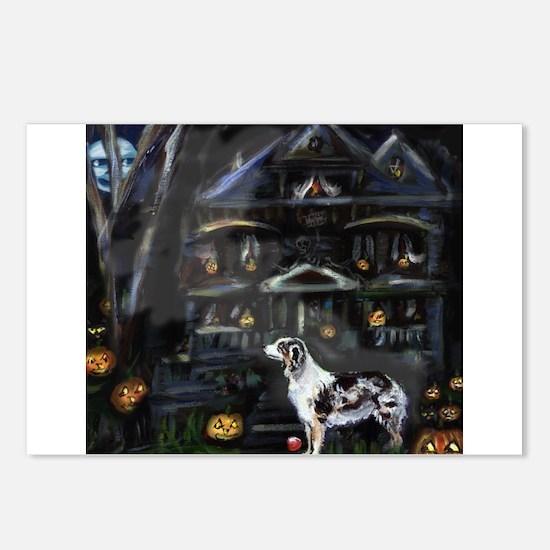 Haunted House Australian shep Postcards (Package o