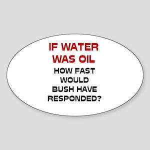 If Water Was Oil Oval Sticker