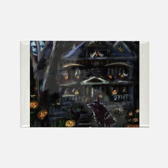Haunted House Schipperke Rectangle Magnet