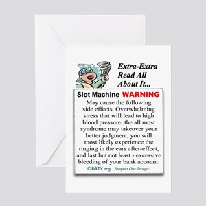 Slot Machine WARNING Greeting Card