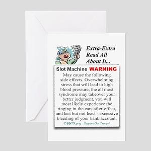 Slot Machine WARNING Greeting Card