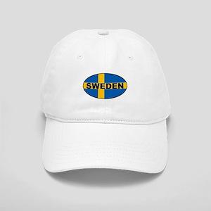 Oval Swedish Flag Cap