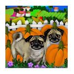 Pug Halloween Tile Coaster
