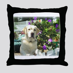 Bogart's Yellow Lab Throw Pillow