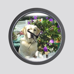 Bogart's Yellow Lab Wall Clock