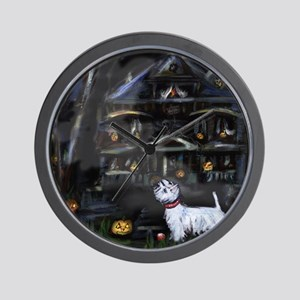 Haunted House Westie Wall Clock