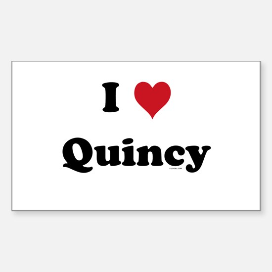 I love Quincy Rectangle Decal