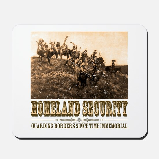 Homeland Security-Guarding Bo Mousepad
