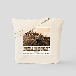 Homeland Security-Guarding Bo Tote Bag