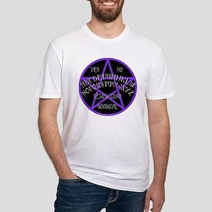Purple Pentagram Board Fitted T-Shirt