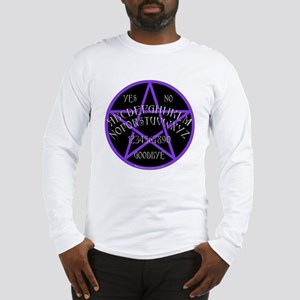Purple Pentagram Board Long Sleeve T-Shirt