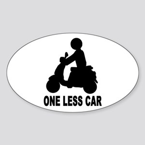 One less car motor scooter Oval Sticker