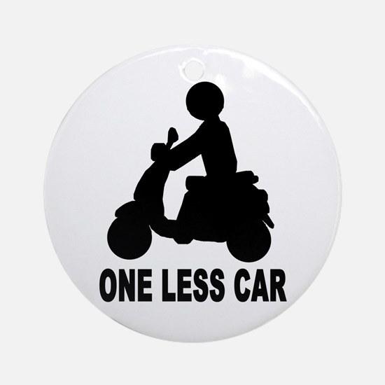 One less car motor scooter Ornament (Round)