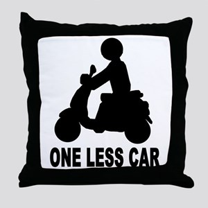 One less car motor scooter Throw Pillow