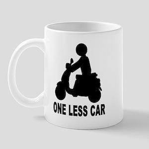 One less car motor scooter Mug