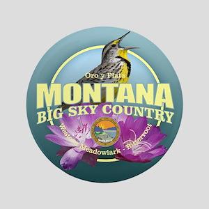 """Montana State Bird & Flower 3.5"""" Button"""
