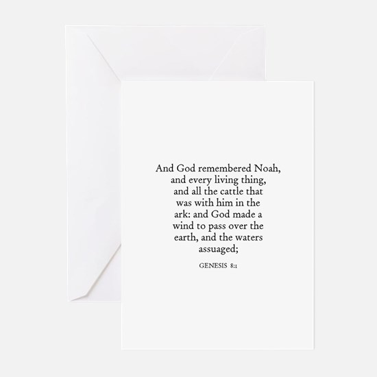 GENESIS  8:1 Greeting Cards (Pk of 10)