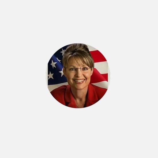 Cool Palin lipstick hockey mom Mini Button