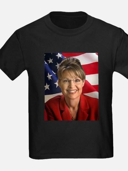 Funny Palin lipstick hockey mom T