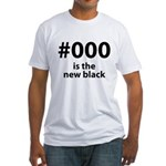 #000 Fitted T-Shirt