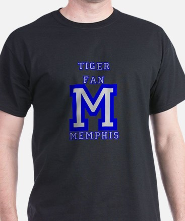 tiger_fan_M_blue_gray T-Shirt