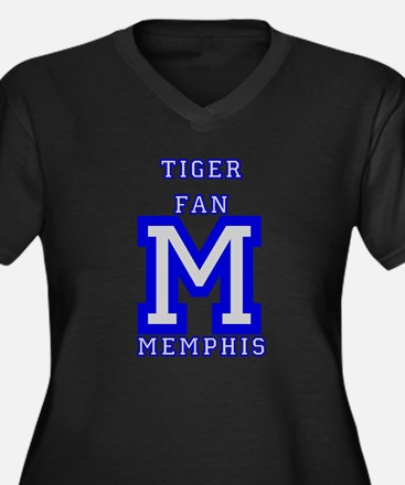 tiger_fan_M_blue_gray Plus Size T-Shirt